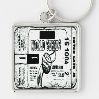 WORLD SERIES TICKET KEYCHAIN