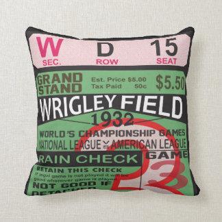 World Series Vintage Ticket Baseball Pillow