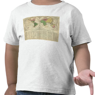 World shown as two hemispheres tshirts