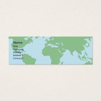 World - Skinny Mini Business Card