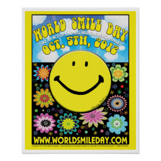 """World Smile Day® 2012  Poster - 16x20"""""""