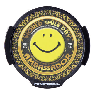 World Smile Day® 2014 LED decal LED Car Window Decal