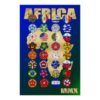 World Soccer Africa Soccer Football Sports Print
