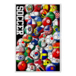 World Soccer Balls Poster