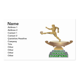 World Soccer Champions Double-Sided Standard Business Cards (Pack Of 100)