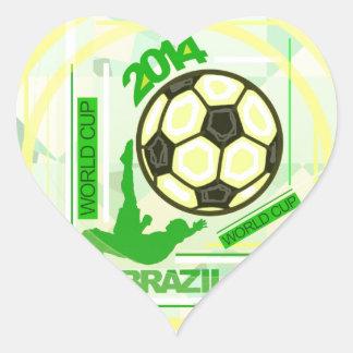 World Soccer/Football Competition. Heart Sticker