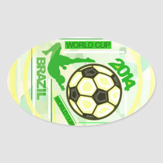 World Soccer/Football Competition. Oval Sticker