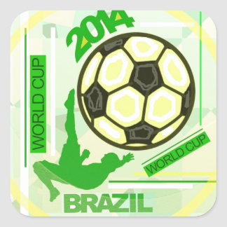 World Soccer/Football Competition. Square Sticker