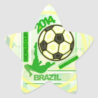 World Soccer/Football Competition. Star Sticker