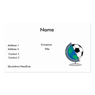 world soccer globe Double-Sided standard business cards (Pack of 100)