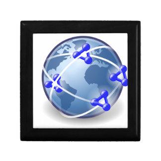 World Social Network Keepsake Box