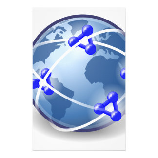 World Social Network Stationery