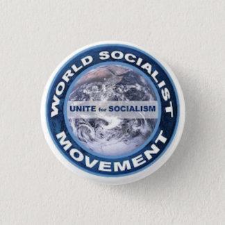 World Socialist Movement badge Button
