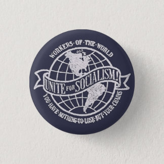 World Socialist Party of the United States badge Pinback Button