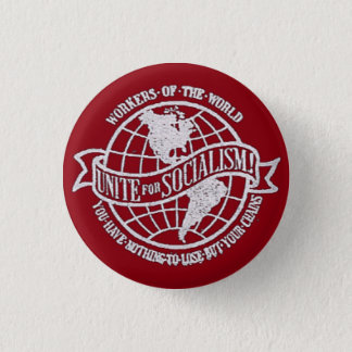 World Socialist Party of the United States red Pinback Button