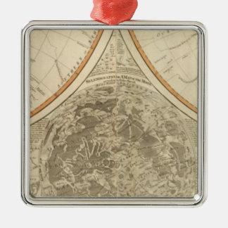 World south hemisphere map metal ornament