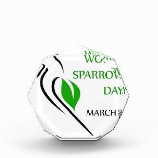 World sparrow day March 20 Acrylic Award