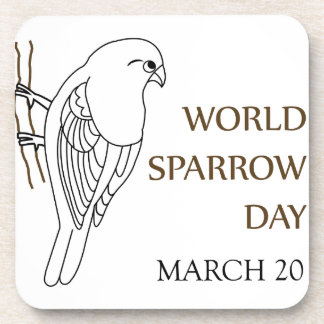 World Sparrow Day- March 20 Beverage Coaster