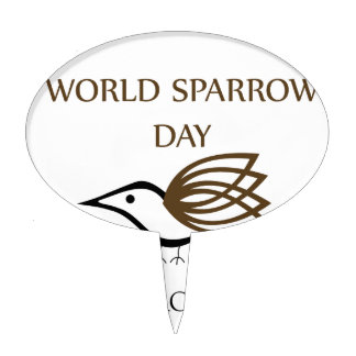 World Sparrow Day- March 20 Cake Topper