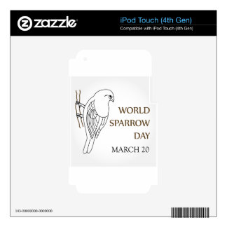 World Sparrow Day- March 20 Decals For iPod Touch 4G