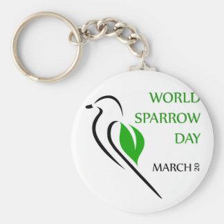 World sparrow day March 20 Keychain