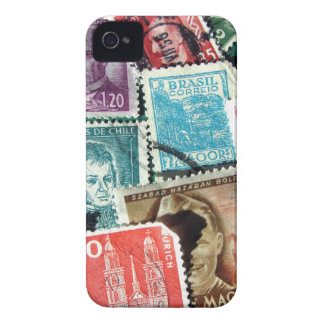 World Stamp Collage iPhone 4/4S Barely There Case