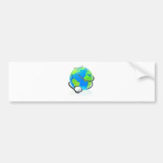 World Stethoscope Earth Globe Health Concept Bumper Sticker