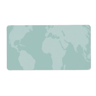 World Stickers Shipping Label