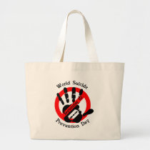 World-suicide-prevention-day Large Tote Bag