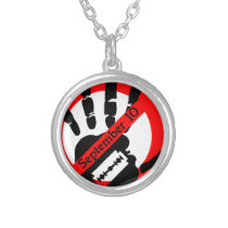 World-suicide-prevention-day Silver Plated Necklace