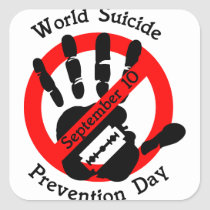 World-suicide-prevention-day Square Sticker