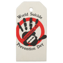 World-suicide-prevention-day Wooden Gift Tags