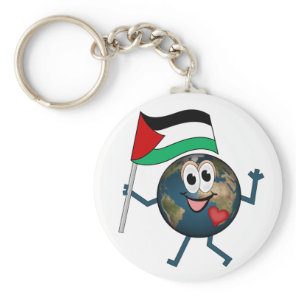 World supports Palestinian Statehood Keychain