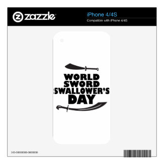 World Sword Swallower's Day - Appreciation Day Skin For The iPhone 4S