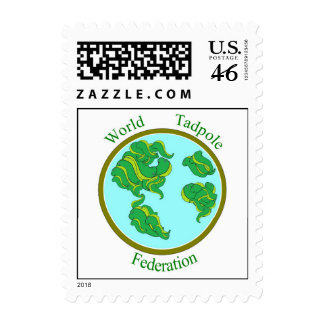 World Tadpole Federation Logo Postage Stamp