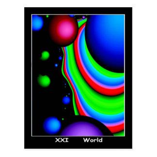 World Tarot Card Post Cards