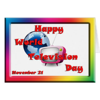 World Television Day November 21 Card