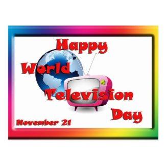 World Television Day November 21 Postcard