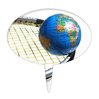 World Tennis Cake Topper
