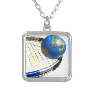 World Tennis Silver Plated Necklace