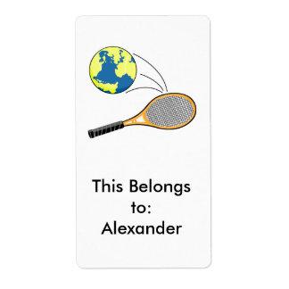 world tennis sports design label