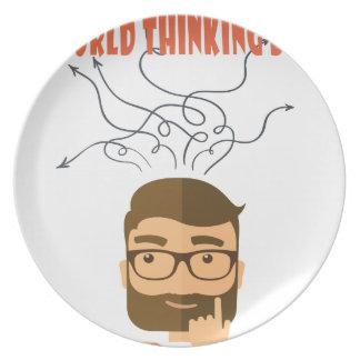 World Thinking Day - Appreciation Day Melamine Plate