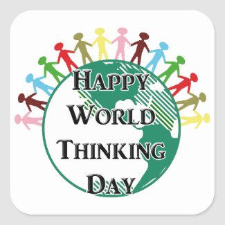 World Thinking Day Classic Round Sticker