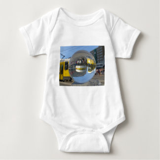 World Time Clock, Alex, Berlin, crystal ball Baby Bodysuit