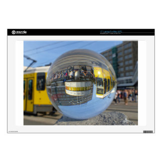 World Time Clock, Alex, Berlin, crystal ball Laptop Decal