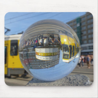 World Time Clock, Alex, Berlin, crystal ball Mouse Pad