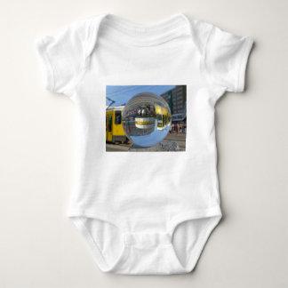 World Time Clock, Alexanderplatz, Alex, Berlin Baby Bodysuit