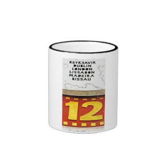 World Time Clock,Alexanderplatz,Berlin,12 o'clock Ringer Coffee Mug