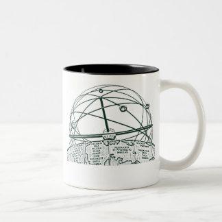 World Time Clock,Alexanderplatz,Berlin,B&W(pc) Two-Tone Coffee Mug