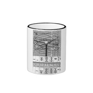 World Time Clock, Alexanderplatz, Berlin, B & W (W Ringer Coffee Mug